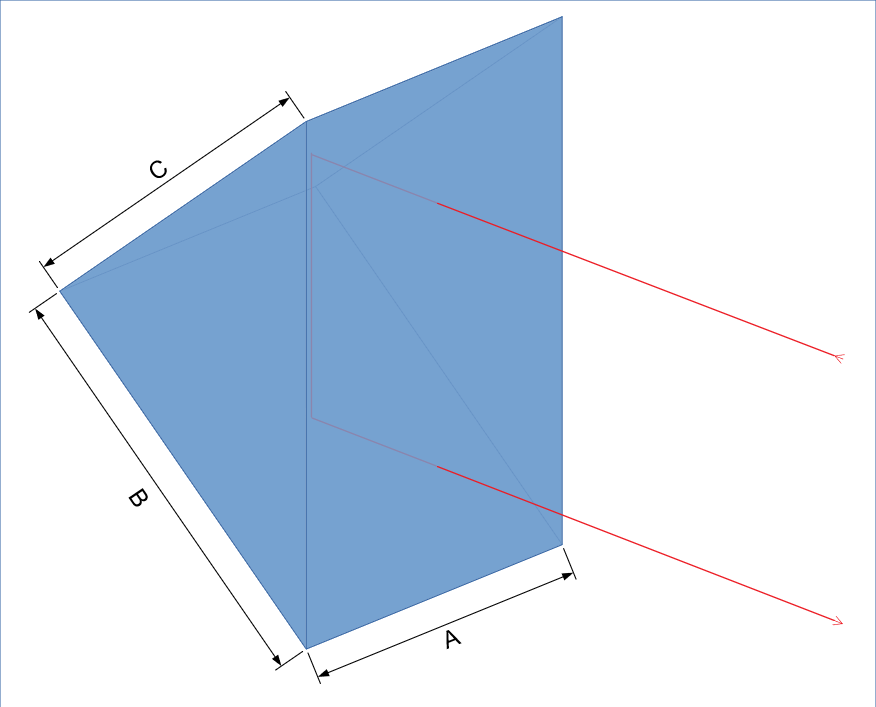 Porro prism drawing