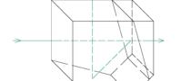 Beamsplitter penta divider prism drawing