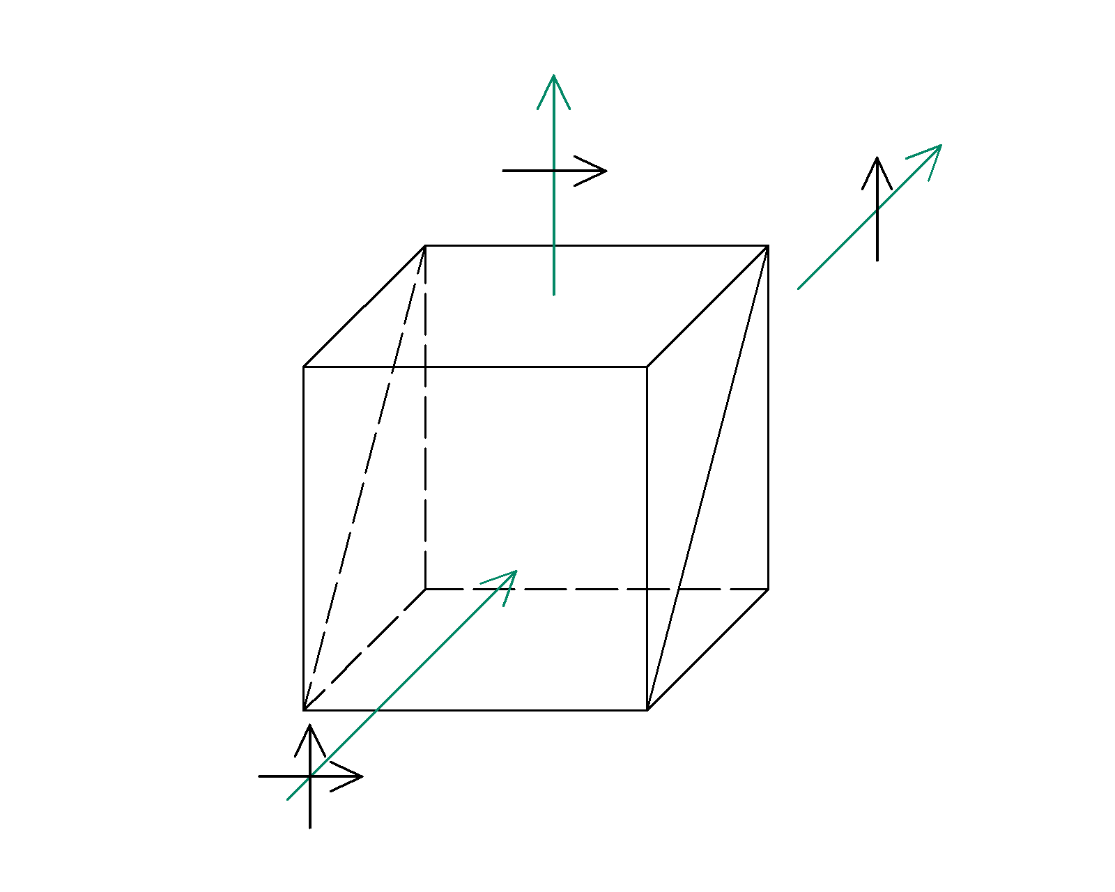 Beamsplitter cube polarizer drawing