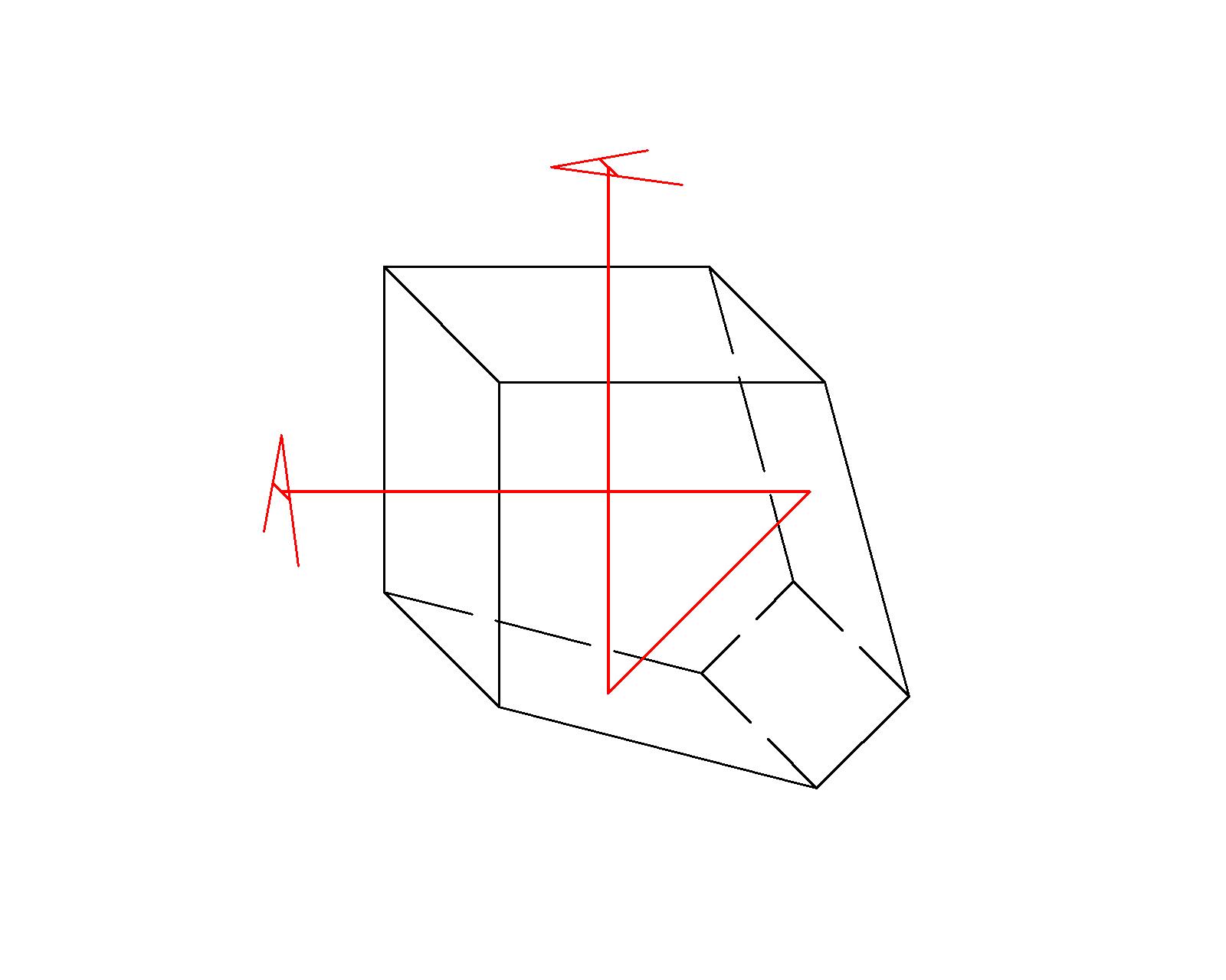Penta prism drawing